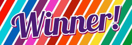 Banner with text Winner. Bright design. Vector Vettoriali