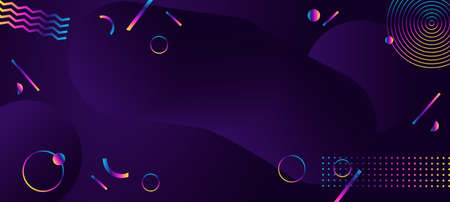 Abstract geometric ultraviolet background. Modern futuristic style. Vettoriali