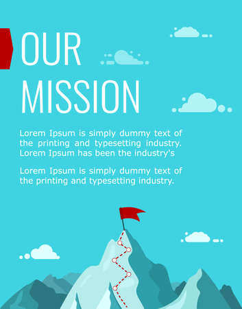 Vertical Poster, our company s Mission. The concept of business success.