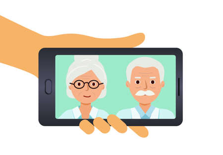 Photos of elderly parents on your phone.