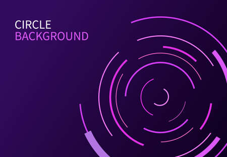 Abstract background with circle line on dark.