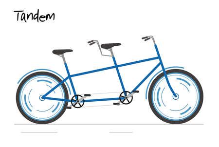 Bike for city. Vector illustration in modern flat style.