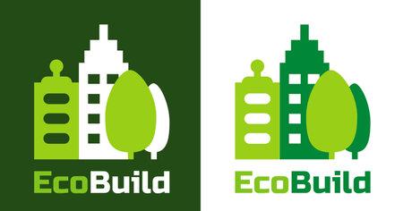 Home building logo and symbols. Eco Real estate vector logo. Illustration