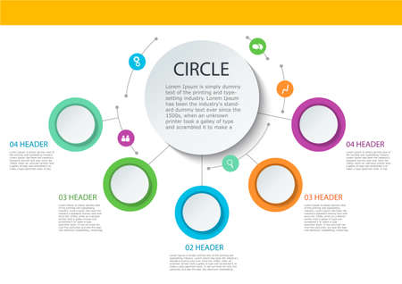 Abstract round infographics. Color circle diagram Color circle diagram.