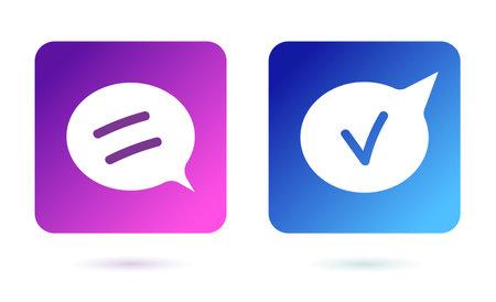 communication speech bubbles on white background. Speech bubble symbol.