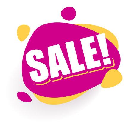 Sticker Sale Purple round Speech bubble. Promotion Icon Offer.