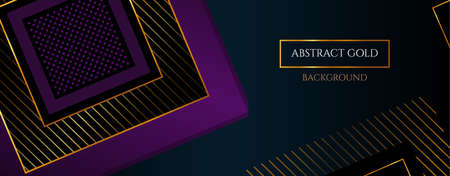 Vector Black Abstract background with squares. Vector Luxury banner.