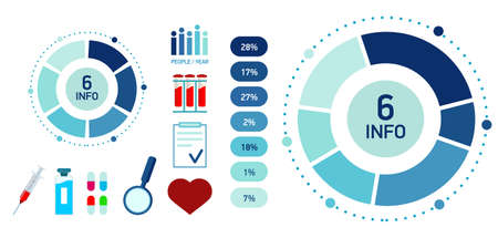 Blue Abstract medicine infographics. template cycle diagram, Illustration