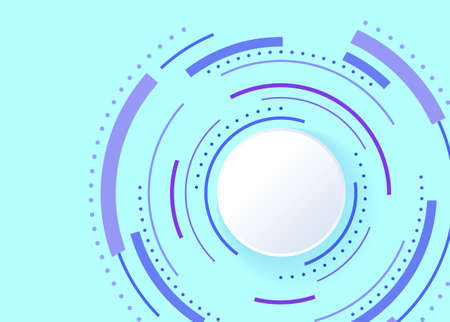 Abstract background with color circle line on blue