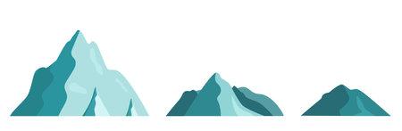 Set icon mountain landscape. Isolated on a white background