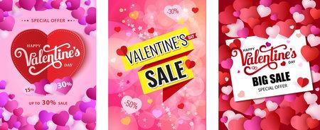 Design Poster Happy Valentine s Day. Valentines sale. Illustration