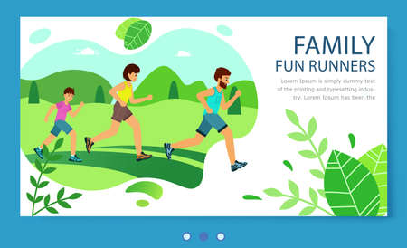 Website family fun runners. lifestyle healthy. Family Jogging Exercise