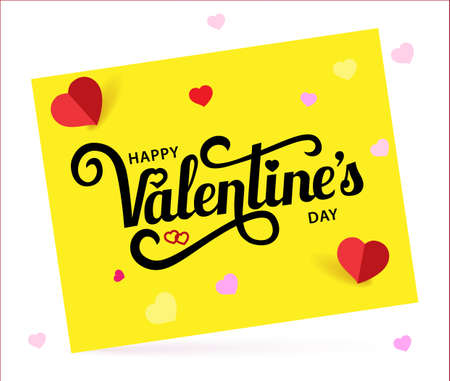 Happy Valentine s Day. Vector calligraphy lettering.