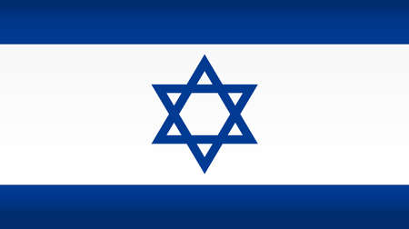 Vector flag of Israel. Color symbol isolated