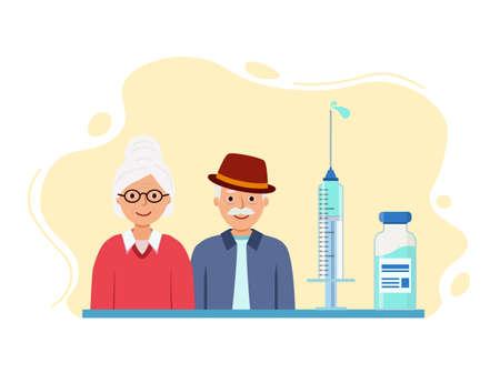 Grandparents are vaccinated