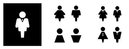 WC sign icon. Set Toilet and restroom symbol. Washroom