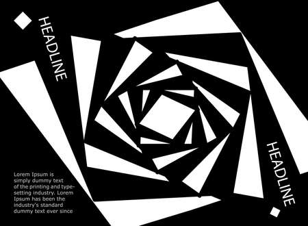 Black and white abstract line. Vector illustration of monochrome abstract pattern background. 矢量图像