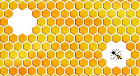 Honeycomb background pattern orange gradient