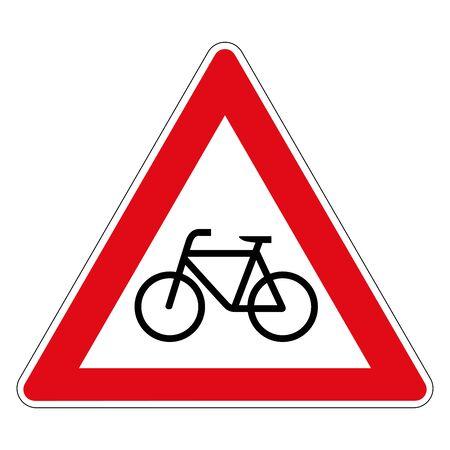 Bikes. Road sign of Germany. Europe. Vector graphics. Illusztráció