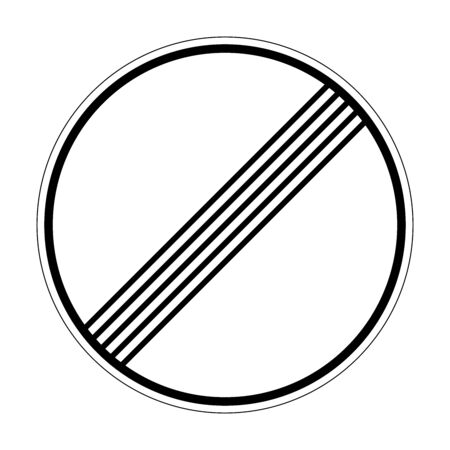 End of all prohibitions and restrictions. Road sign of Germany. Europe. Vector graphics.
