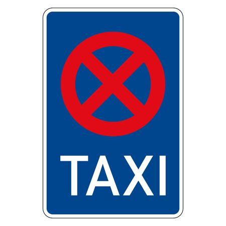 Parking and taxi stop. Road sign of Germany. Europe. Vector graphics.