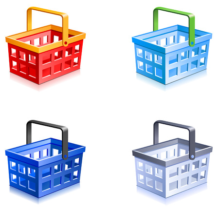 Shopping basket vector.
