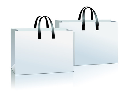 two shopping bag vector.
