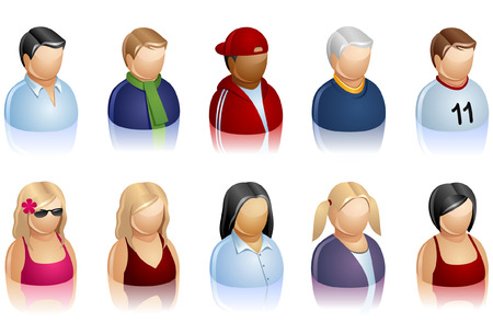 set of icons representing people.  Illustration