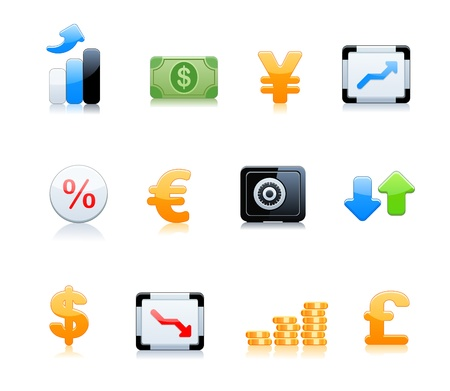 Banking icons Stock Vector - 9535674