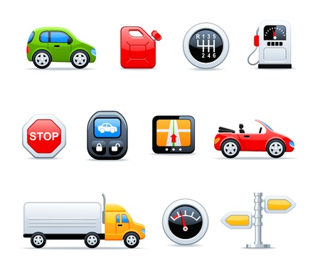 car tuning: car icons