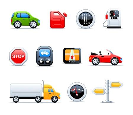 repuestos de carros: iconos de coche Vectores