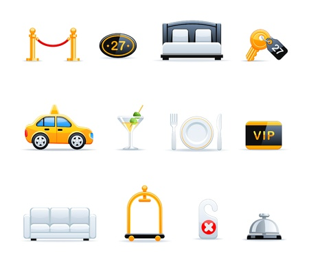 Hotel icons Stock Vector - 9535680