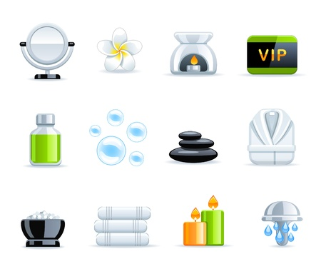 Beautiful Spa collection Vector