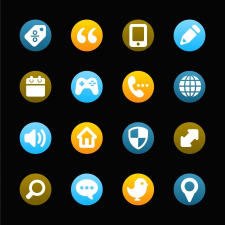 Internet icons set Illustration