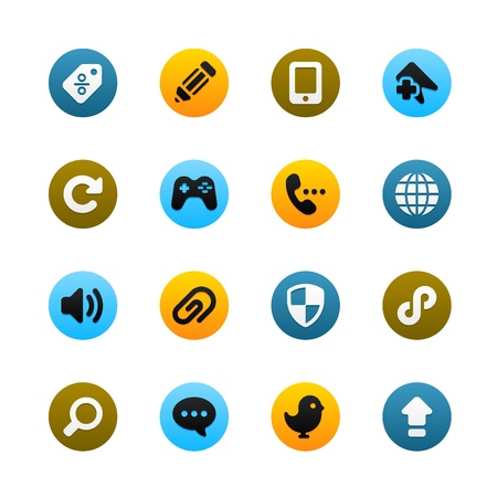 Icons For Web and Mobile Stock Vector - 16592407