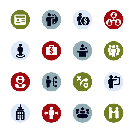 Business   Finance Web Icons  Stock Vector - 16592742