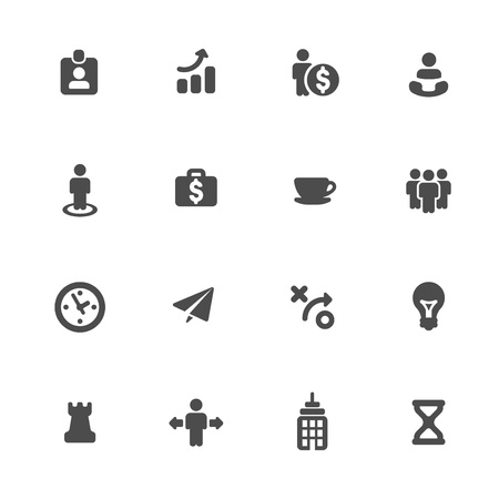 Business strategy icons set