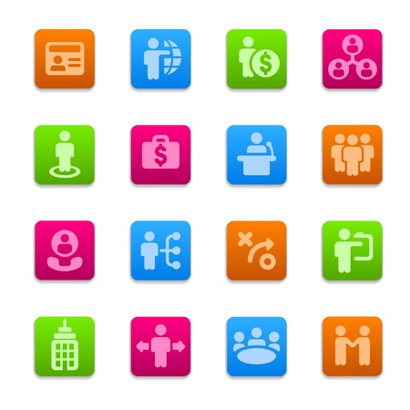 Business strategy icons set Stock Vector - 16592744