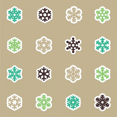 Snowflakes icon collection Stock Vector - 16592650