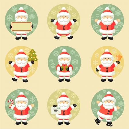 letter from santa: Set of Santa Claus Illustration