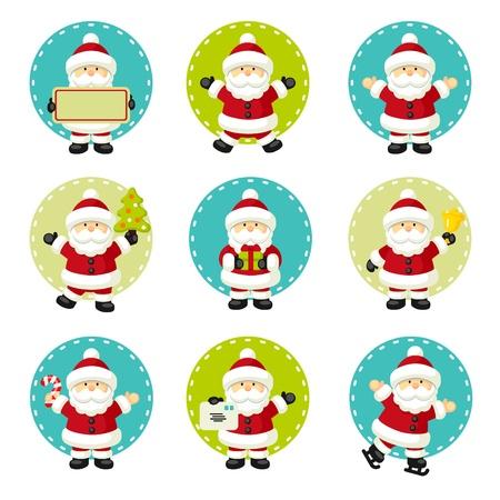 santa hat: Set of Santa Claus Illustration