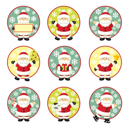 Set of Santa Claus Illustration