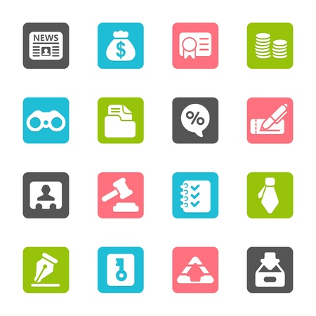 Business   Finance Web Icons Stock Vector - 17775415