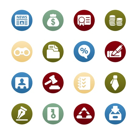 law office: Business   Finance Web Icons Illustration