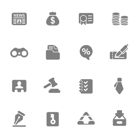 Business   Finance Web Icons Illustration