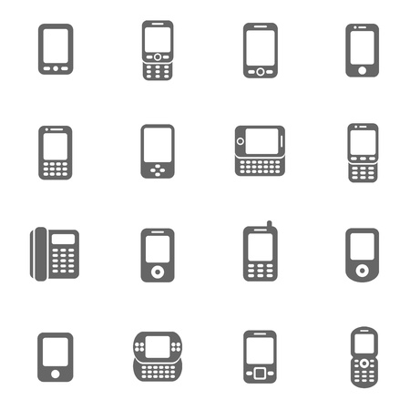 cellphone: Mobile phone icons