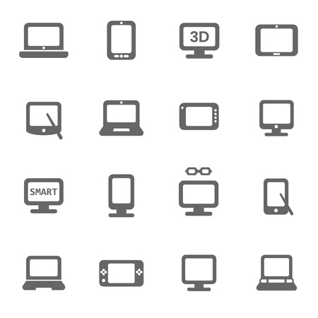 electronic devices icons set Stock Vector - 17775408