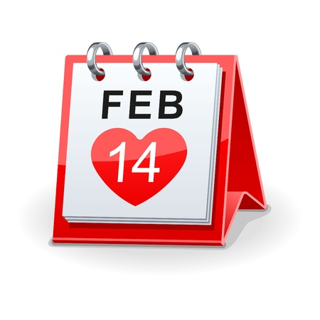 calendar icon for valentines day