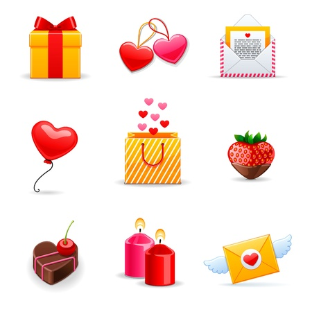chocolate box: Love Icons set