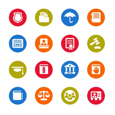 legal scales: law icons Illustration